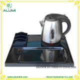 Hotel 1L 304 Stainless Steel Electric Kettle Melamine Tray Set