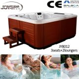 Whirlpool Bathtub Double, 60 Jets Massage Bathtub, CE Approved SPA Product