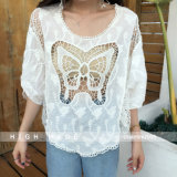Butterfly Batwing Hollow out Blouse, Latest Lace Bikini Cover up Dress