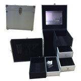 Multi-Function Aluminium Cosmetic Case with Extra Draws
