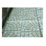 Grey White and Rusty Yellow Granite Cube Stones