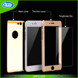Full Rubberized Cover 3 in 1 Case with Tempered Glass