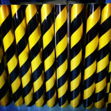 Black and Yellow Slant Bar Stripe Commerical Grade Reflective Sheeting
