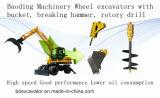 Mini Excavator Baoding Wheel Excavators Bd95 for Sale Good Quality