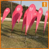 Polyester Advertising Beach Flag with Poles (TJ-58)