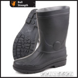 Whole Black PVC Safety Gunboot with Steel Toe (SN5221)