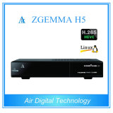 Original Enigma2 Linux OS Set-Top-Box Zgemma H5 with Dual Core DVB-S2+  Hybrid  Tuner  DVB-T2/C Combo Receiver