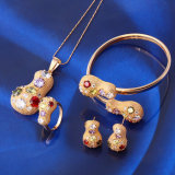 Hot Selling Luxury Jewelry 18k Gold Color Jewelry Set (61417)