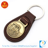 Factory Price Hot Sale Customized Promotion Leather Key Ring with Metal Attachment