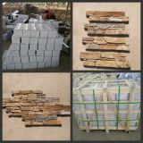 Cheap Natural Yellow Slate Veneer/Culture Slate for Wall Cladding