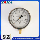 Hydraulic Anti-Vibration Pressure Gauge with Bottom Connection Liquid Filled