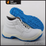 PU Injection White Microfiber Leather Ankle Safety Shoe (SN5306)