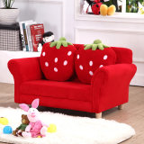 Two Seat Strawberry Kids Fabric Sofa/Children Furniture (SXBB-281-3)