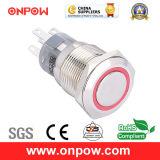 Onpow Metal Push Button Switch (LAS1-AGQ-11E/R/12V/N, 19mm, CE, UL, CCC, RoHS)