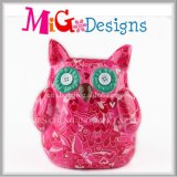 OEM Excellment Quality Ceramic Decal Owl Piggy Bank