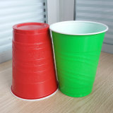 Disposable Frosted Surface 16oz PS Plastic Red Party Cups