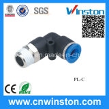 Mini Compact Tube Pneumatic Plastic Elbow Fitting with CE