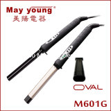 M601g Salon Equipment Ovel Barrel Digital Hair Curling Iron
