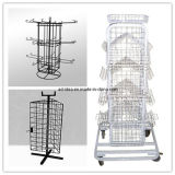 Four Sided Turnable Stackable Wire Metal Display Rack