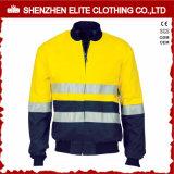 Wholesale Men High Visibility Safety Reflective Bomber Jacket