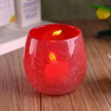 Red Color Glass Candle Holder