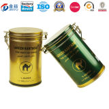 Round Tin Box Black Tea Contanier with Rubber Seal