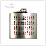 5 Ounce Screen Print Logo Liquor/Whisky Stainless Steel Hip Flask