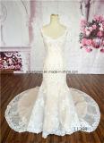 Champage Sexy Mermaid Sleeveless Lace Wedding Dress