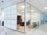 Modern Glass Almiunm Bright White Used Office Room Dividers (SZ-WS510)