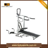 Home Multifunction Slim 4 in 1 Jogger Flat Manual Treadmill