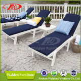 Outdoor Chaise Lounge Chair 100% Polywood Outdoor Furniture in White