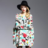 Women′s Oversize Sweater Fat Printing Knitwear Pullover Wholesale