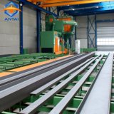 Abrasive Blasting Machine with Roller Conveyors