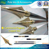 Sharp Copper Head of Flag Pole Accessories and Kits (M-NF23M03009)
