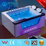 Double Person Massage Bathtub with Side Light Luxury 1m Waterfall (BT-A1112)