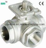 3 Way Ball Valve with ISO5211