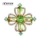 Xuping Fashion Luxury Rhodium Crystals From Swarovski Rhinestone Flower Jewelry Element Brooch - X0421006