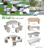 Various Garden Stone Tables and Chairs Granite