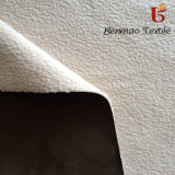 Suede Fabric Bonded with Sherpa for Overcoat