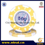 14G 2-Tone Leaf Design Clay Poker Chip with Custom Stickers