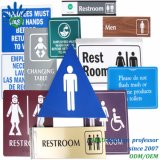Acrylic, Stainless Steel, Aluminum, Plastic Tactile Toilet Signs or Marks