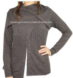 Women Fashion Winter Wool Cashmere Cardigan with Warming (12AW-090)