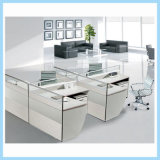 Modern Wooden Office Cubicle Workstation for 3 People