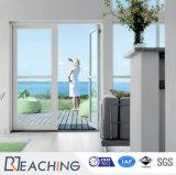 Modern House Tempered Glass UPVC Casement Plastic Doors