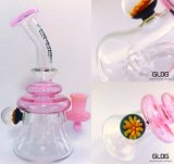 Gldg High Quality Heavy Borosilicate Pyrex Handblown Klien Recycler Small DAB Oil Rig Glass Water Pipe