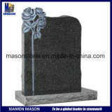 European Carved Rose Granite Headstone for Sale