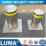 Parking Semi-Auto Bollards Flexible Rising Bollards Steel Pipe