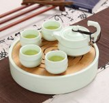 Wholesale New Fashion Useful Japanese Style Chinese Porcelain Collection Kungfu Whiteware Tea Cup and Saucer Sets for One