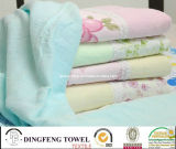 High Quality Cotton Face Towel with Embroidery