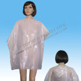 Disposable PE Cutting Cape for Hairdress